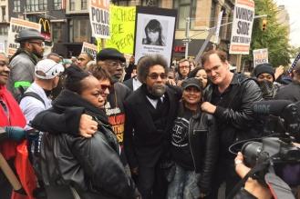Además de Tarantino, también participó el intelectual afroamericano y activista de derechos civiles Cornel West.